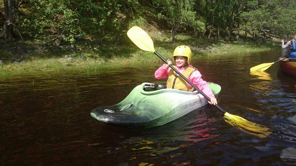 river kayaking in aviemore