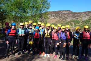 Group Snap Pre Gorge! Truim Falls