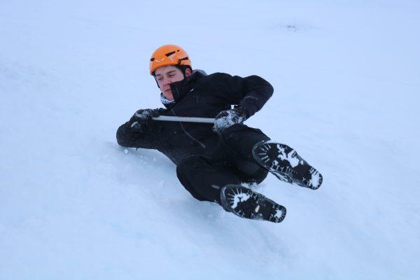 Winter skills ice axe arrest
