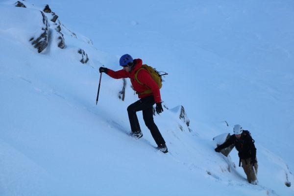 winter skills walking axe