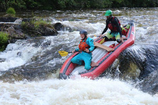 Duckies rafting in scotland