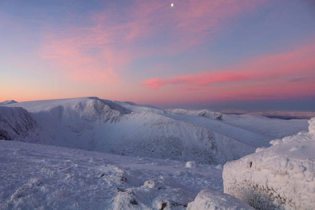 Winter Skills Courses in Scotland Stunning Sunrise