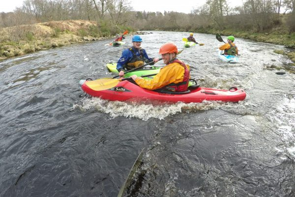 Kayaking River Findhorn