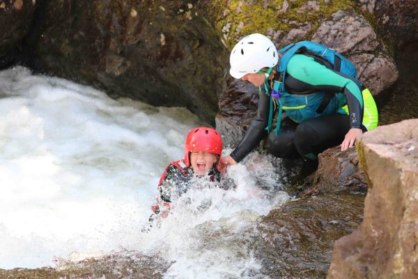gorge scrambling in the cairngorms
