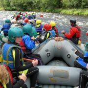 school group white water rafting