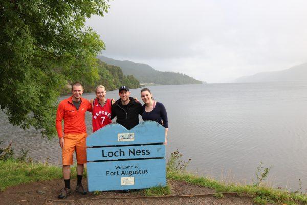 Great Glen Way canoe trail barge loch ness