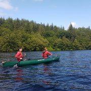 Canoeing towards Fort August, Great Glen Way