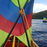 Sailing on the Loch Oich, Great Glen Way