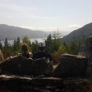 Taking in the views above Loch Ness