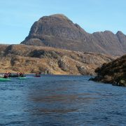 Canoeing under Suilven, Inverpolly