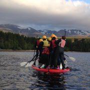 stand up paddle boarding loch morlich aviemore