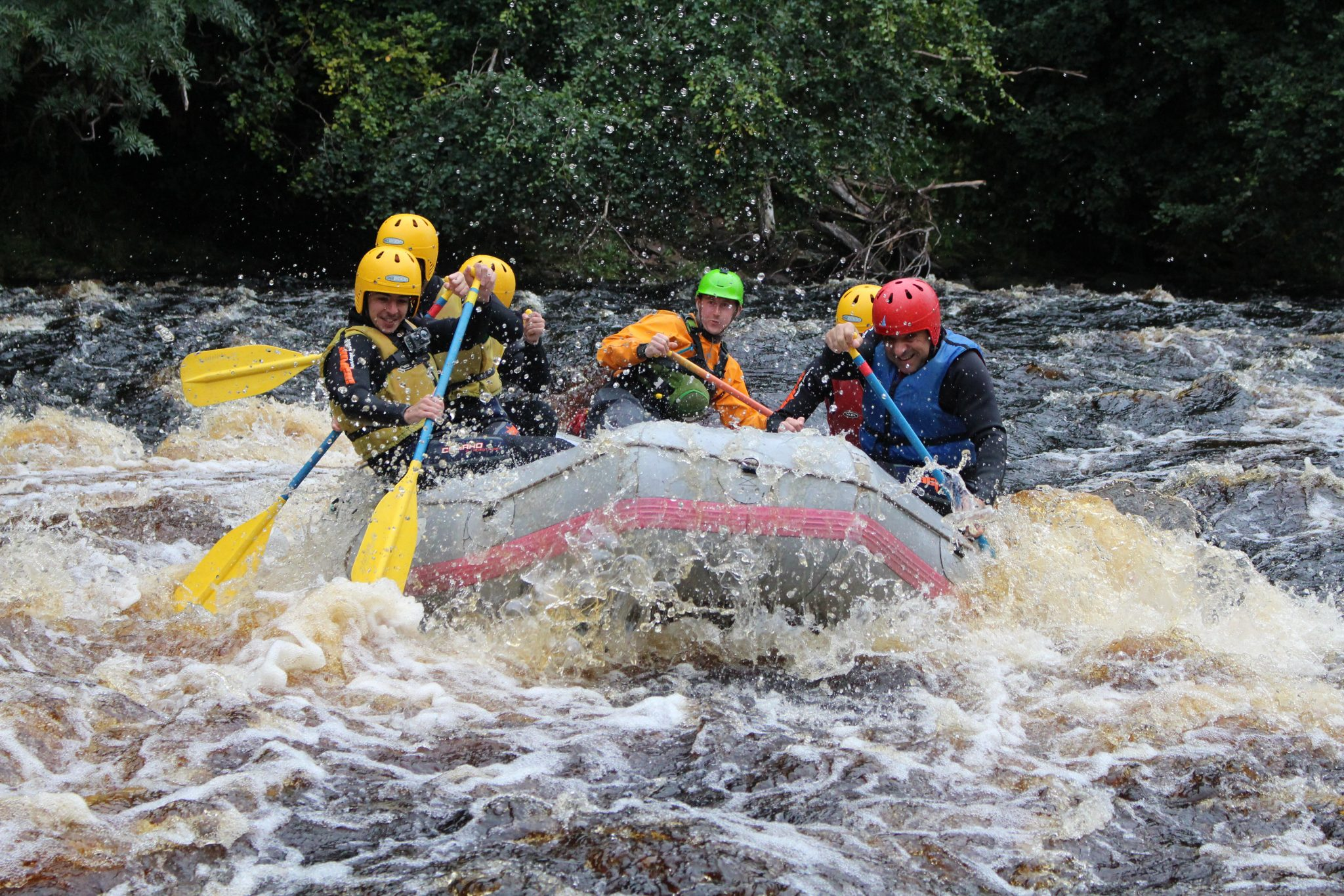 White Water Rafting in Scotland. Findhorn, Spey, Tay & Tummel.