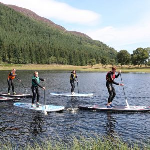 SUP stand up paddleboarding in Scotland