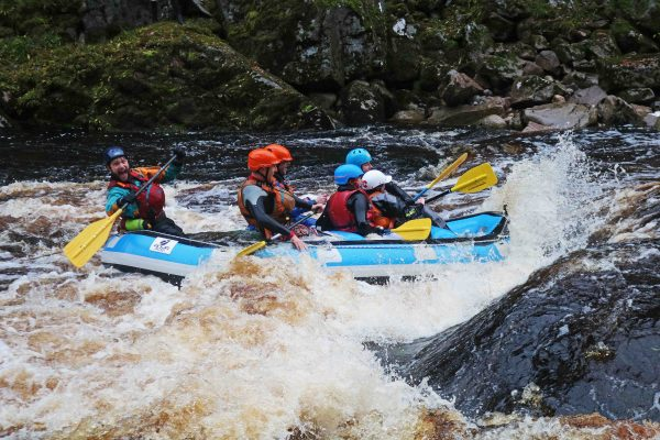 White Water rafting in Scotland happy guide