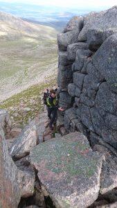 mountain scrambling, fiacaill and the aonach Eagach