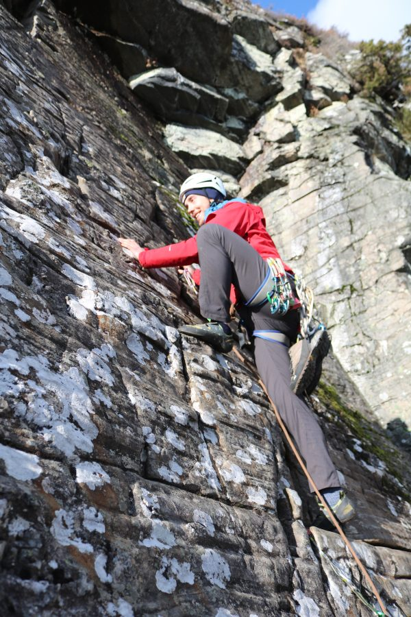 lead climbing in scotland