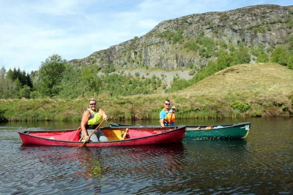 river canoeing on the spey