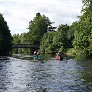cairngorms adventure canoe river trip in Aviemore