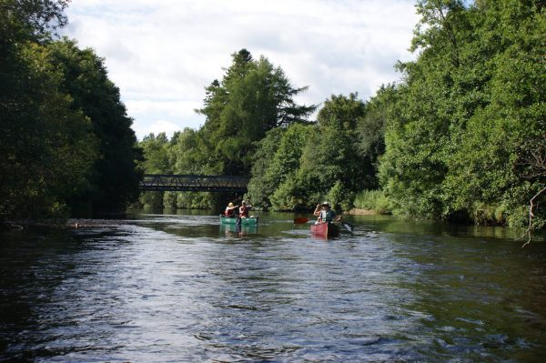 cairngorms adventure canoe river trip in Aviemore