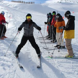 ski lesson at Fort william, nevis range and glencoe