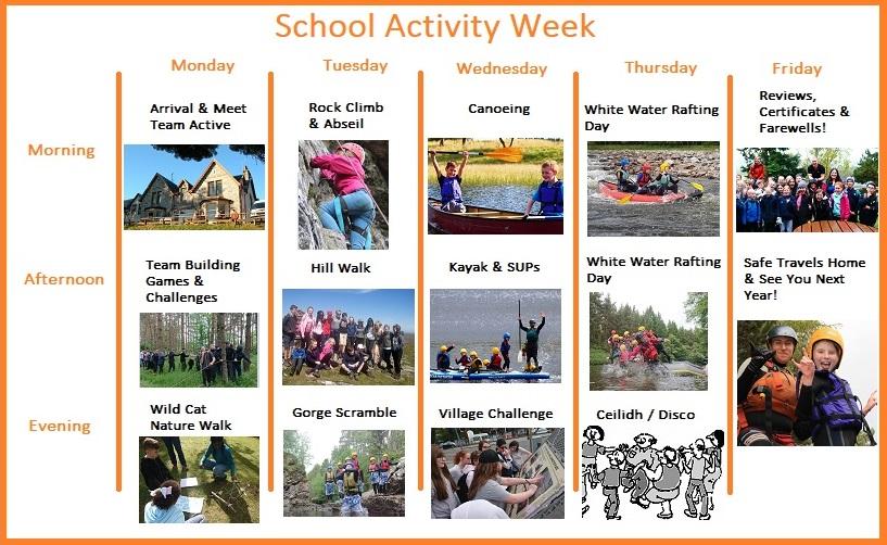schools outdoor residential week programme
