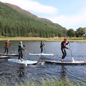 stand up paddle boarding in the great glen