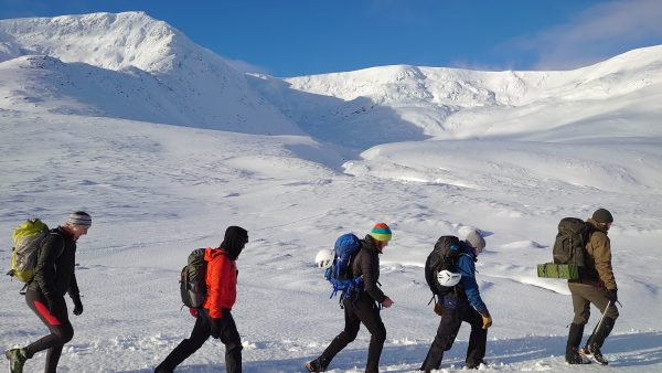 Winter skills in Scotland walking