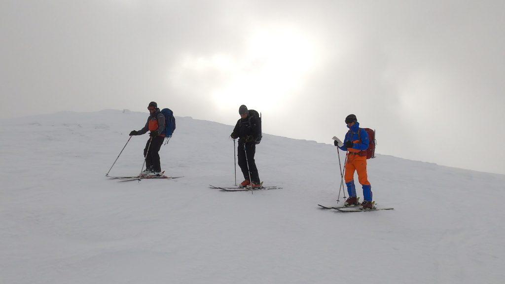 skiing off sgor gaoith