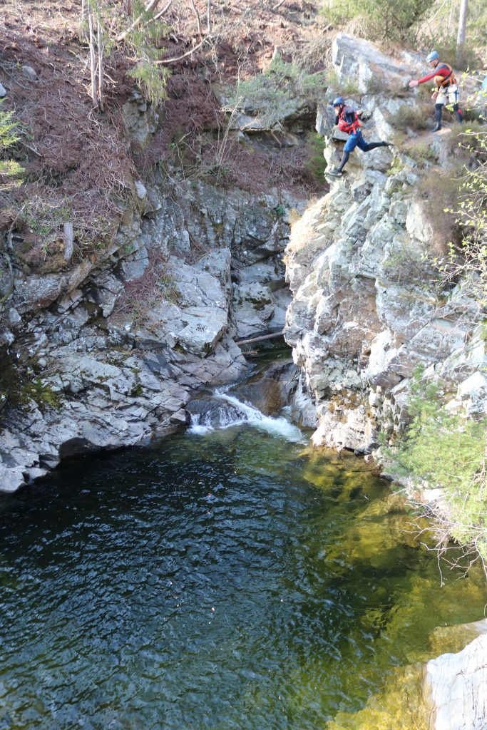 Canyoning at the Bruar - adventurous days out in scotland