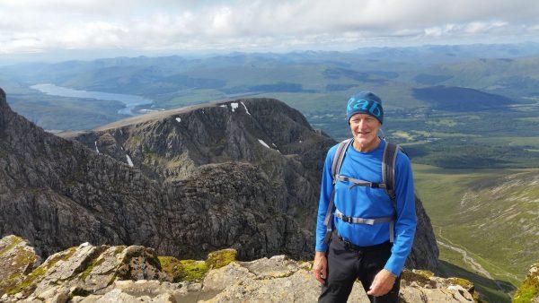 The top of Ben Nevis looking towards Tower Ridge