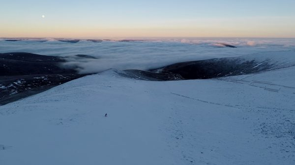 sunrise summit of cairngorm inversion