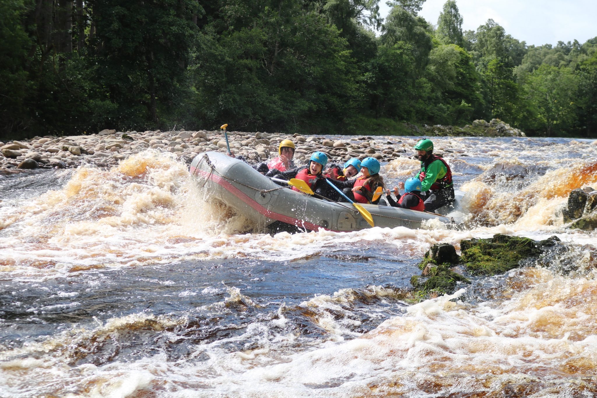 Whiter Water Rafting on the Findhorn