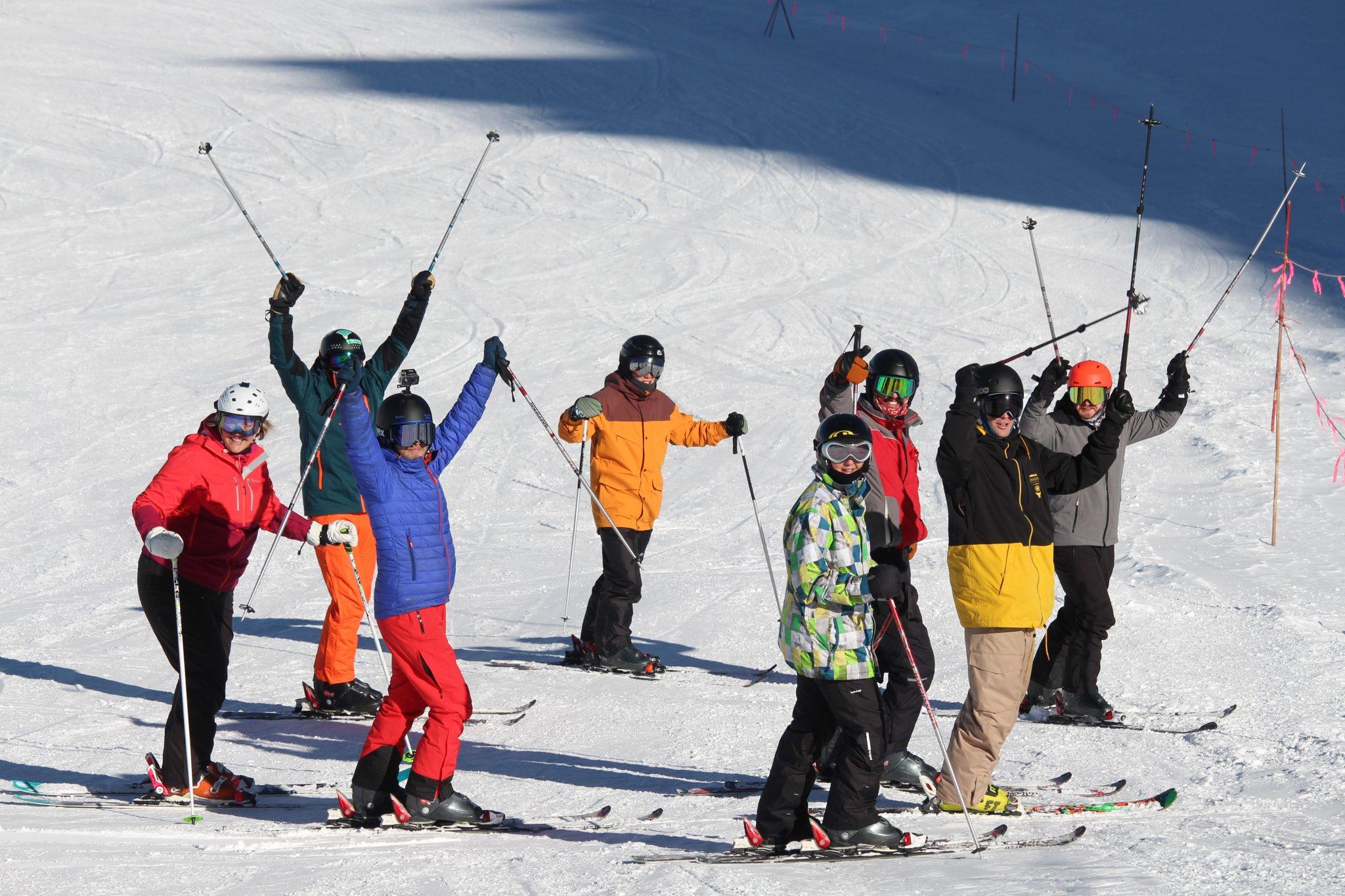 Outdoor Instructor Skiiing