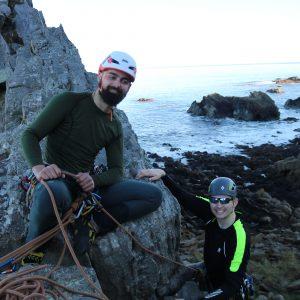Learn to Lead climb Ayrshire