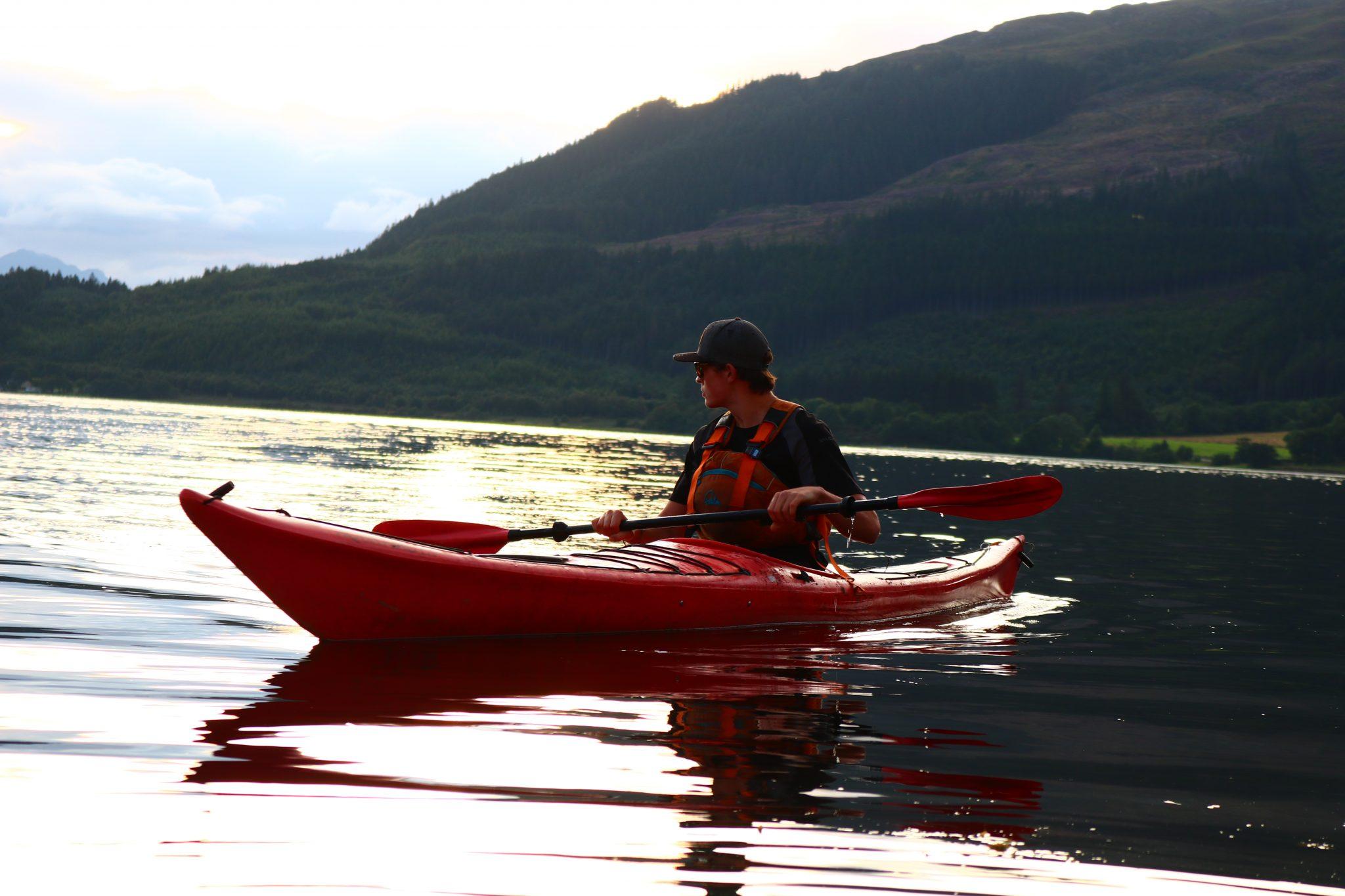 Sea kayaking Loch Lomond