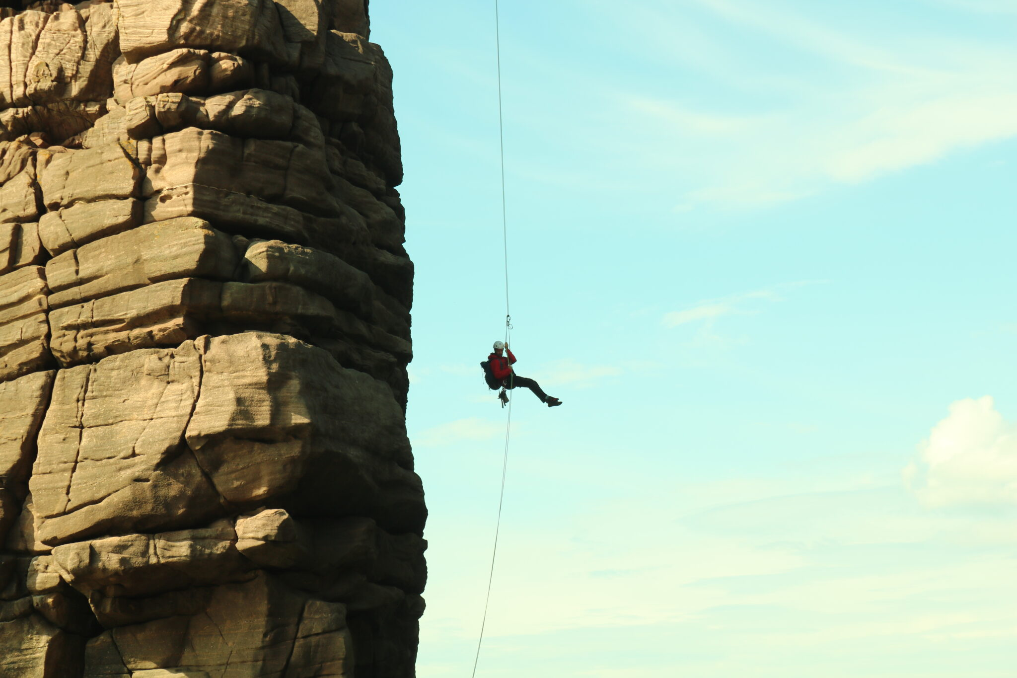 Outdoor Instructor training abseiling